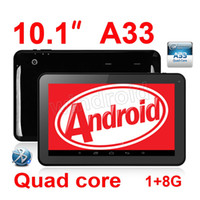 """Wholesale Tablet 1g 8g - 10.1"""" 10"""" inch A33 Allwinner Quad Core 1.5GHz Android 4.4 Kitkat 1G 8G 1024*600 Dual webcam Wifi Bluetooth black white MID Tablet pc A31S"""