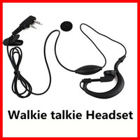 Wholesale headset talkie pin - Walkie talkie Headset 2 PIN Earpiece Headset for BAOFENG UV5R 888S KENWOOD TWO Way Radio Free Shipping