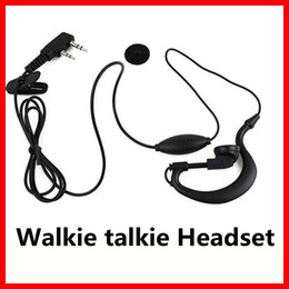 Wholesale Walkie Talkie Headsets Pin - Walkie talkie Headset 2 PIN Earpiece Headset for BAOFENG UV5R 888S KENWOOD TWO Way Radio Free Shipping