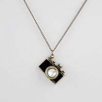 Wholesale Necklaces For Women Cameras - Fashion Necklaces & Pendants Hot Sale Lovely Vintage Enamel Camera Necklace For Women