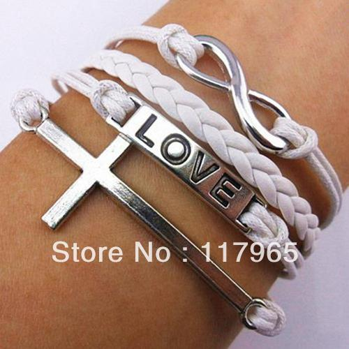 Min.order is $10 (mix order) Retro Fashion Handmade Infinity Rudder Anchor charms leather Suede Wrap bracelet Gift ZYJ14