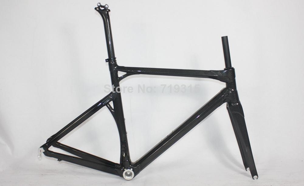 2014 New Bike Raw Carbon Fiber Road Racing Frameset Size 50&Amp ...