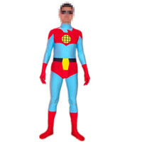 film zentai catsuit achat en gros de-Collants de Spandex Costume de héros de film de Superman Accessoires de robe de mascarade d'Halloween Collants de zentai de RPG