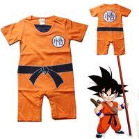 bébés dragon achat en gros de-Dragon Ball Goku KungFu Combinaison Bébé Enfant Costume Déguisement Costume Romper