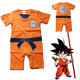 Wholesale Baby Boy Summer Dresses - Dragon Ball Goku KungFu Jumpsuit Baby Toddler Fancy Dress Costume Outfit Romper