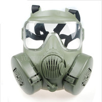 Wholesale Halloween Gas Masks - US JSGPM Inspired Tactical Combat Airsoft Paintball Wargame Fan GAS M50 Mask W  Fog Removable Canister Outdoor CS Full Face