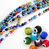 Wholesale Evil Eye Loose - Mixed Colours Lampwork Glass Murano Evil Eye Beads 6mm 8mm 10mm Round Ball Loose Beads Jewelry & DIY Accessories Fit Bracelet BBC006 007 008
