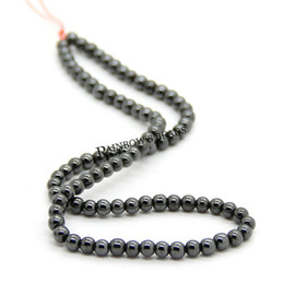 Wholesale Hematite Bracelet Wholesalers - Wholesale 500pcs lot AA 8mm Black Hematite Round Beads Loose Beads Fit Shamballa Bracelet Necklace