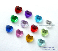 Wholesale Live Bead - 120PCS DIY accessories 3mm 4mm 5mm Mix-color Heart Birthstone Floating Charms For Glass Living Locket Free shipping