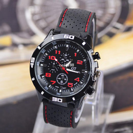 Wholesale Watch Gt - New Arrival 2014 Brand Quartz Men Sports watch men Casual Watches F1 GT Wristwatch Dropship Silicone Band Clock Fashion Hours