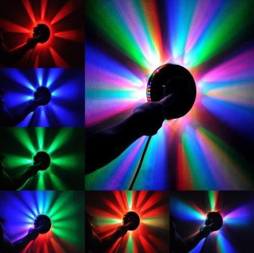 الدورية مصغرة المصابيح الأحمر الأخضر الأزرق ضوء عباد الشمس الصمام rgb جولة المرحلة ضوء الإدخال الجهد ac 90-240V