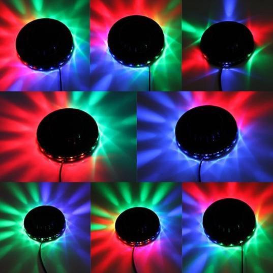 48 الصمام البسيطة autovoice- تنشيط تدوير حزب الإضاءة عباد الشمس أضواء led rgb ديسكو dj ktv المرحلة lidht