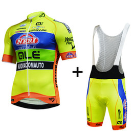 Fluo radfahren trikot online-2019 gelb fluo Kurzarm Radtrikot und Trägerhose / Fahrradbekleidung / ciclismo maillot MTB