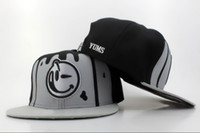 Wholesale Snapback Hat Yums - Yums Snapback Hat Black Grey Snapbacks Lovely Smile Snap Back Hats Ball Snap Backs Caps Cheap Womens Mens Fashion Hip Hip Cap Sports Caps