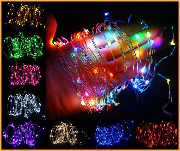 cheap multicolorrgbpink 10m 100 led copper wire garden led string twinkle fairy lights lamp for decoration dc12v useuau plug avaiable star string lights - Multicolor Christmas Lights