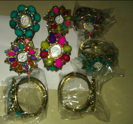 Wholesale Vintage Jewlry - Wholesale -XMS Jewlry Vintage Alloy Colorful Jewelry Watch Bracelet Fashion Lady Bangle 12pcs Lot