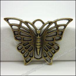 Vente en gros Livraison gratuite 30 pcs Vintage Charms Papillon Pendentif Antique bronze, Fit Fit Bracelets Collier DIY En Métal Fabrication de Bijoux