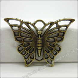 Wholesale Antique Bronze Charms Butterfly - Free shipping 30pcs Vintage Charms Butterfly Pendant Antique bronze,silver Fit Bracelets Necklace DIY Metal Jewelry Making