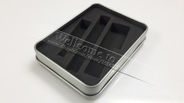 Wholesale Ego Aluminium Box - eGo Metal Gift Box for EGO-T K Q Electronic Cigarette eGo Starter Kit Aluminium E Cigarette Case