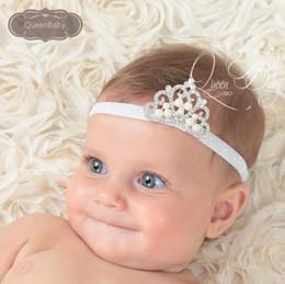 Wholesale Wholesale Glitter Elastic Headbands - Trial Order Baby Glitter Elastic headband Tiara headband Crown headband baby tiara Princess headband 12pcs lot QueenBaby