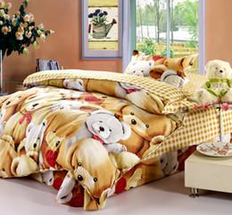 Children Cartoon Bedding Sets Canada - Promotion Bedding set 3pcs kids boy duvet cover cartoon children bedding sheet home textile