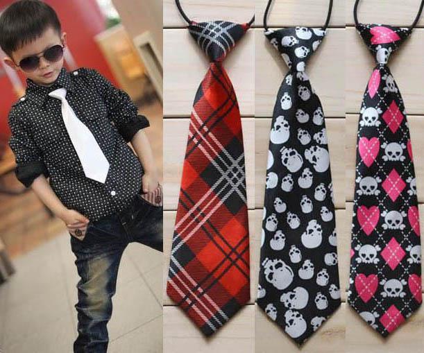 Children Baby Necktie Neck Ties Boys Girls Elastic Rubber