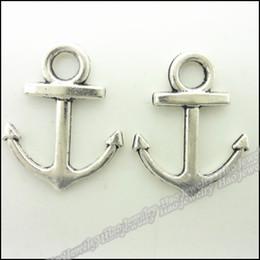 100 pcs Vintage Charms Anchors Pendentif Antique argent Fit Bracelets Collier DIY Métal Fabrication de Bijoux ? partir de fabricateur