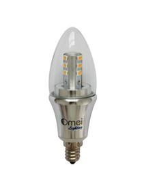 Daylight white bulbs online shopping - led candelabra bulb daylight Dimmable Pack OmaiLighting E12 w w watts LED bulb Bullet Top
