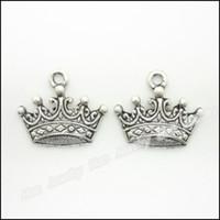 ingrosso fascino antico della corona-80 pezzi di fascini vintage ciondolo corona imperiale argento antico misura bracciali collana fai da te gioielli in metallo fabbricazione