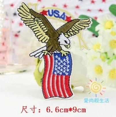2018 Wholesales Usa Flag Eagle 6.5cm X 9 Cm Cool Patch Embroidered ...