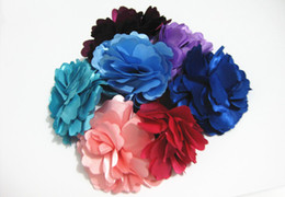 Wholesale Hair Flowers China - Girl's Beloved Fabric Flower Booch Popular Wedding Hair Brooches Fabric Pin Brooch Mixed Colors X012