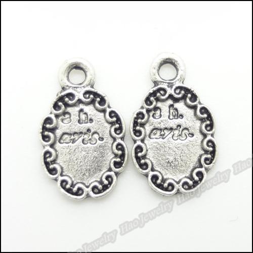 180 pcs Vintage Charms Frame Pendant Antique silver Fit Bracelets Necklace DIY Metal Jewelry Making