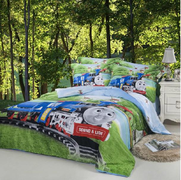 Train Thomas Kids Boys Cartoon Comforter Bedding Set Children For ... : thomas quilt - Adamdwight.com