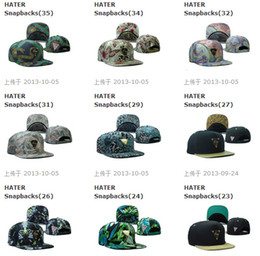Wholesale Wholesale Sports Logo Hats - Many Hot Selling HATER Hat Snapbacks Snapback Baseball Hats Caps Metal Logo Mixed Order Sport cap Snapback Size Adjustable High Quality