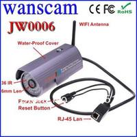 Wholesale Lens Webcam Wifi - Plug&Play Lens Wireless WiFi Outdoor Waterproof IR Night Vision IP Webcam Network CCTV Home Security Internet Camera
