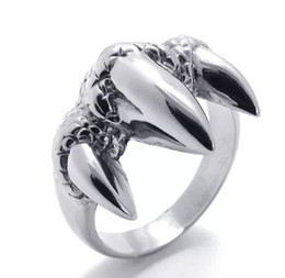 Wholesale Self Defense Ring Jewelry - Casting quality stainless steel jewelry titanium ring Talon punk genuine self-defense