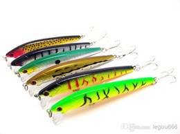 2020 top richiami Commercio all'ingrosso - - 2014 Hot 50pc / lot esche da pesca che vendono richiamo di pesca 6 colori 9.5 cm / 9g top attrezzatura da pesca mago d'acqua, Popper Lure libera la nave top richiami economici