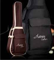 "Wholesale Acoustic Guitar Bags - Deluxe Brown Black 40"" 41"" Acoustic Guitar Bag 600D Nylon Oxford Guitar Soft Case Gig Bag Free Shipping Wholesales"