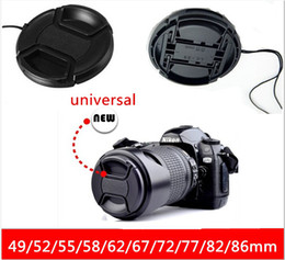 Wholesale Lens Cap 49 - 10 pcs Lens Cap 49 52 55 58 62 67 72 77 82 86mm Universal Lens Cap Center Pinch Snap On Anti-losing Front Cap for Lens   Filters free ship