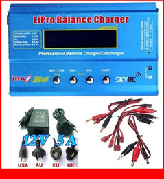 Wholesale Imax B6 12v Battery Charger - IMAX B6 Combo with 12V 5A AC Adaptor 2S-6S 7.4v-22.2V AC DC Charger with Leads & LiPo Battery Balance Charger original hight quality