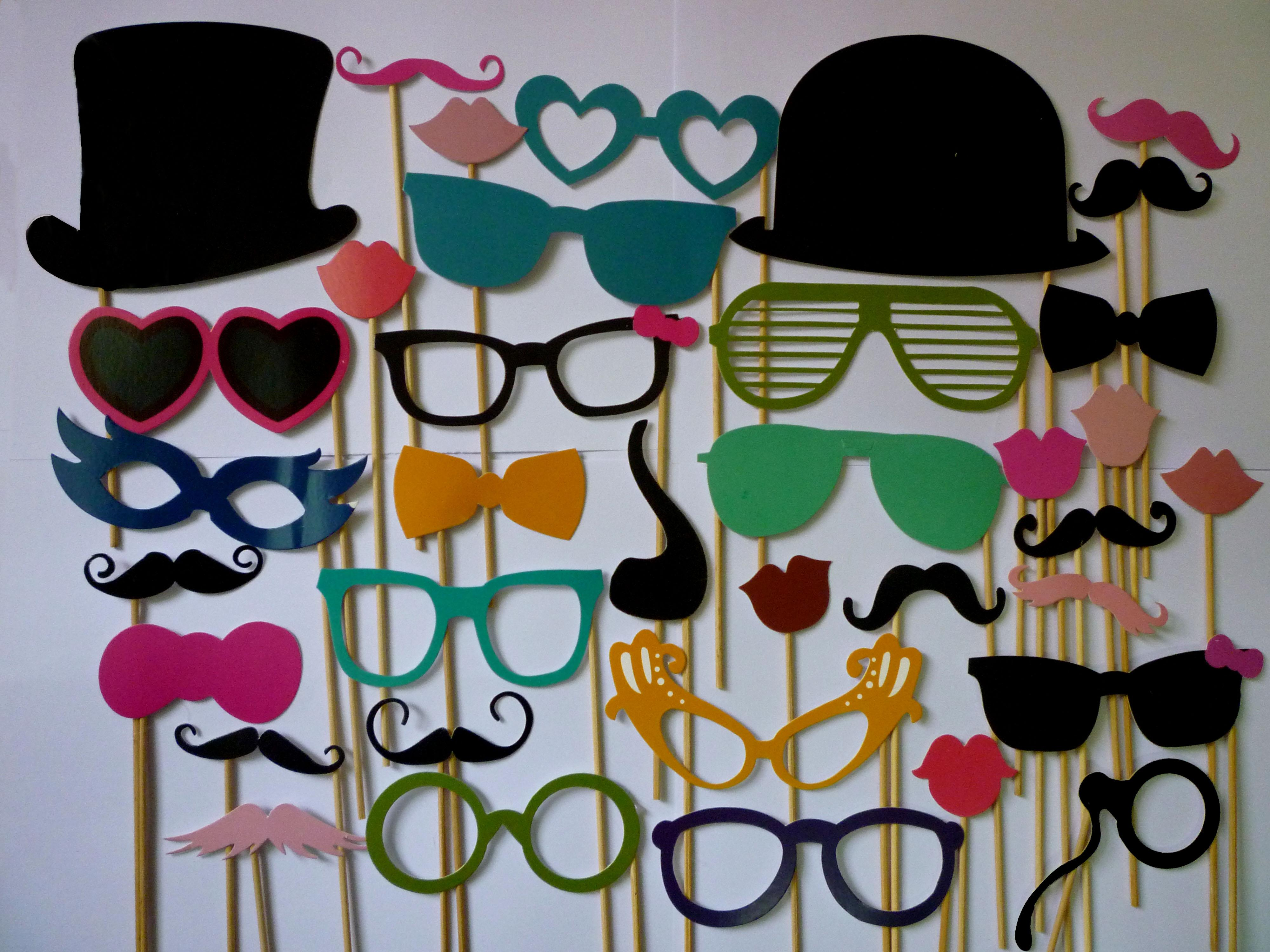 Wholesale Booth Props Mustache Glass Lip Stick Wedding