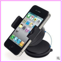 China Universal 360 Degree Mini Windscreen Car Mount Holder Stand Cradle For iPod iPhone 4 4S 3G HTC PDA GPS all Cell Phone retail package >40pcs suppliers