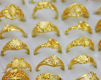 Wholesale China Craft Wholesale Free Shipping - Gold Plated Fashion Jewelry Open Rings For Craft Jewelry Gift 20pcs lot Mix Style RI21 Free Shipping