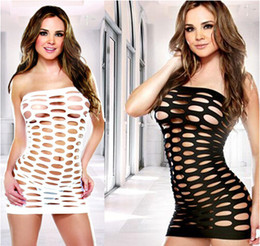 Wholesale Sex Lady Lingerie - Babydoll Big mesh underwear ladies sexy stretch tight jumpsuit Sex Underwea Nightwear Sexy lingerie Jumpsuit for women Pyjamas 4 color