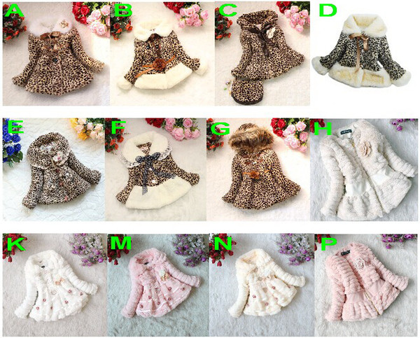 335a72262 Retail Girls Leopard Faux Fox Fur Collar Coat Clothing With Bow ...