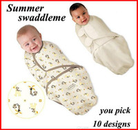 Wholesale Newborn Summer Sleeping Bag - retail summer newborn baby swaddleme parisarc Baby wipes swaddling bag Baby sleeping bags Pure cotton cocoon type clothes 0-4M Much styles