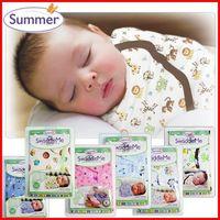 Wholesale Diaper Organic - retail diapers Swaddleme summer organic cotton infant parisarc newborn thin baby wrap Swaddler swaddling swaddle me Sleep bag Sleepsack
