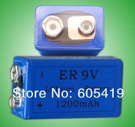 500pcs/lot ER9V lithium battery,ER 9V 1200mAh Block cells for smoke alarm