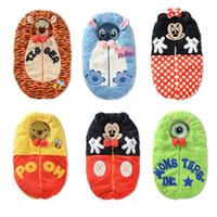 Wholesale Baby Tiger Blankets - Cartoon Baby Sleeping Bags Mickey Tiger Newborn Sleepsacks Blankets Cute Baby bunting Retail