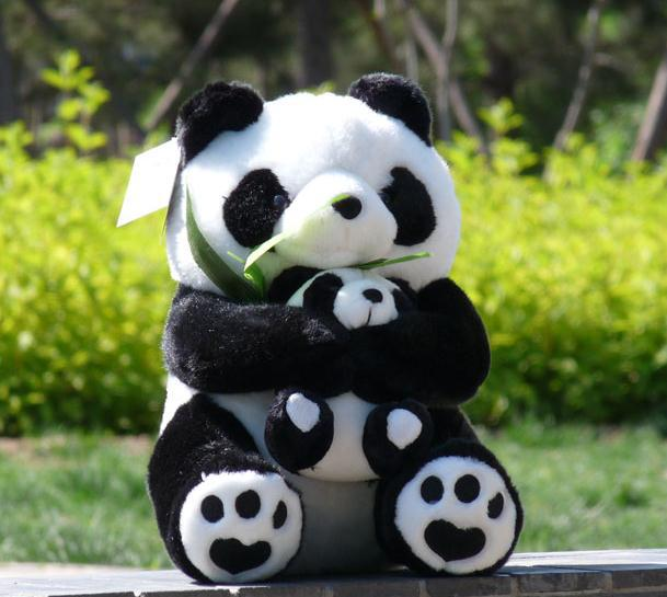 25 cm Plush Toys Panda Mother And Child Plush Cartoon Animals Doll Birthday Gift